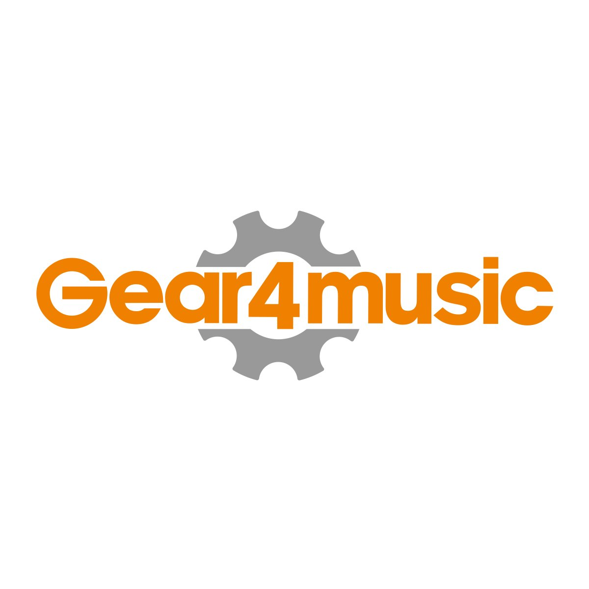 Support de Clavier en X à double embase blanc par Gear4music