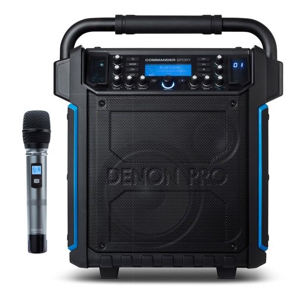 Denon Commander Sport Water-Resistant Portable PA Speaker, Speaker and Microphone