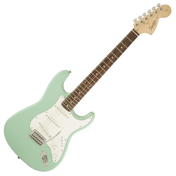Squier Affinity Stratocaster LRL, Surf Green Front View