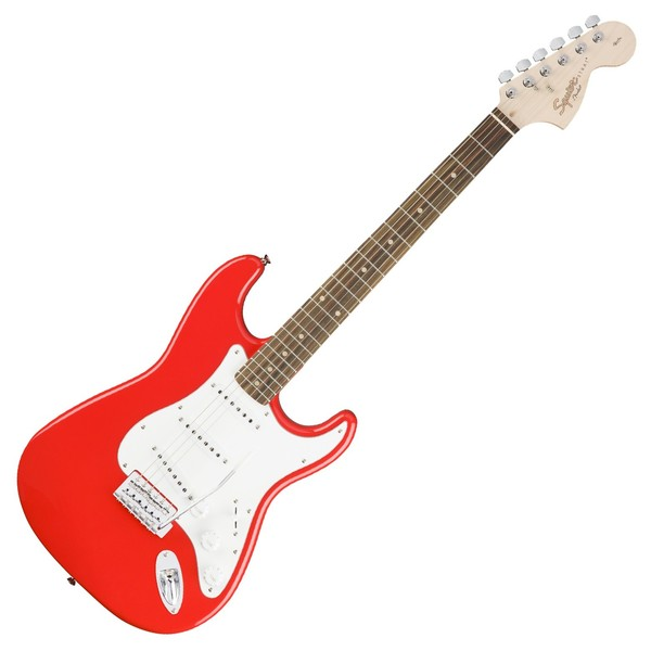 Squier Affinity Stratocaster LRL, Race Red Front View
