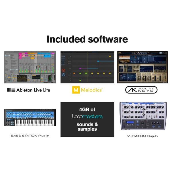 Novation LaunchKey Mini MK2 MIDI Controller Keyboard - Included Software