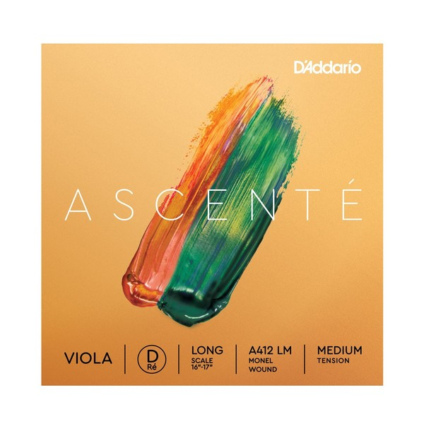 D'Addario Ascenté Viola D String, Long Scale, Medium Tension