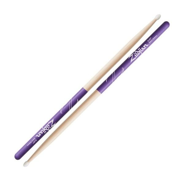 Zildjian 7A Nylon Tip Purple Dip Drumsticks - Main Image