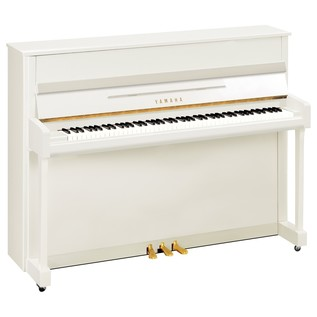 Yamaha B2 Upright Acoustic Piano, Polished White