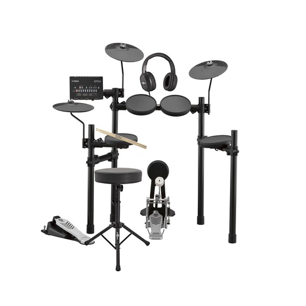 Yamaha DTX432K Electronic Drum Kit with Headphones, Stool + Sticks - Main Image