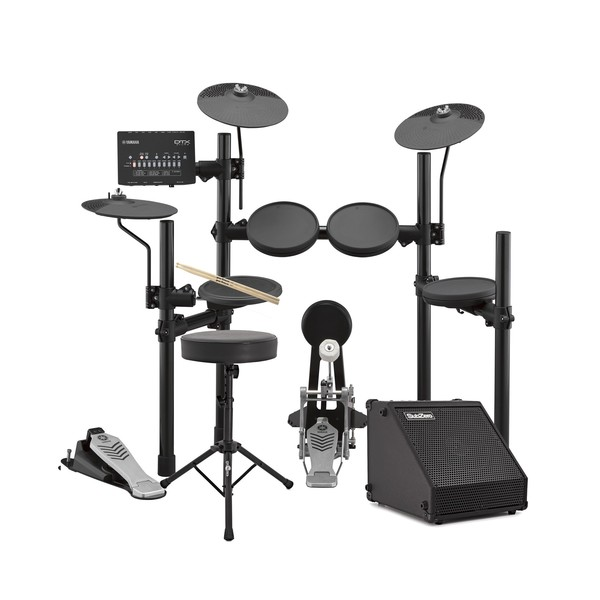 Yamaha DTX452K Electronic Drum Kit with Headphones, Stool + Amp - Main Image