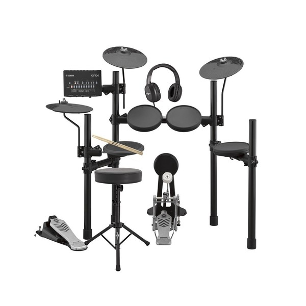 Yamaha DTX452K Electronic Drum Kit with Headphones, Stool + Sticks - Main Image