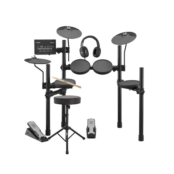 Yamaha DTX402K Electronic Drum Kit with Headphones, Stool + Sticks - Main Image