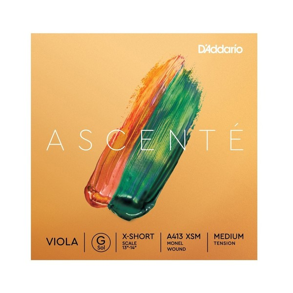D'Addario Ascenté Viola G String, Extra-Short Scale, Medium Tension