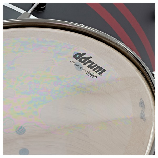"""DDrum Reflex Rally Sport 4pc 22"""" Shell Pack, Black with Red Stripes skin"""