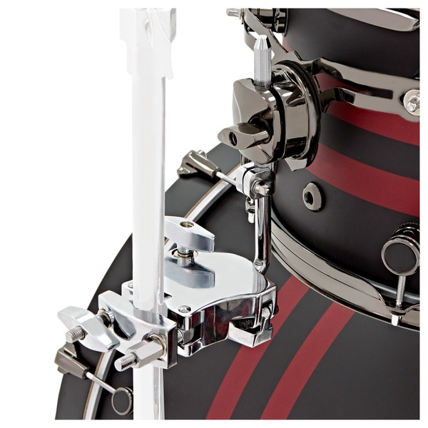 """DDrum Reflex Rally Sport 4pc 22"""" Shell Pack, Black with Red Stripes mount"""