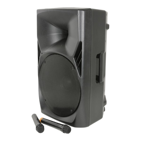 QTX Quest PA15 Portable PA Speaker with Wireless Microphones
