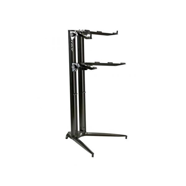 Quiklok SL919ALUBK Dual-Tier Aluminium Keyboard Stand, Black