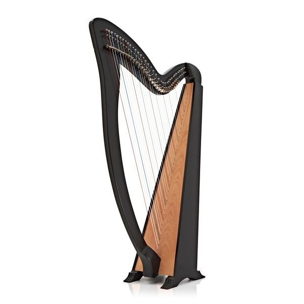 Deluxe 36 String Harp with Levers by Gear4music, Black main
