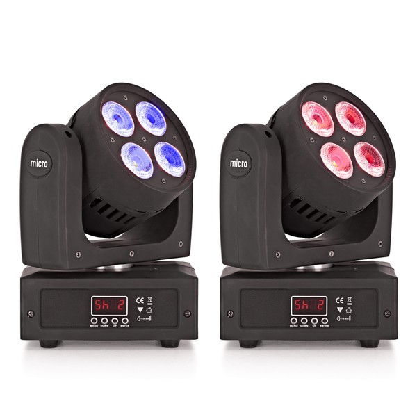 ORBIT Moving Head Lights with UV Twin Pack