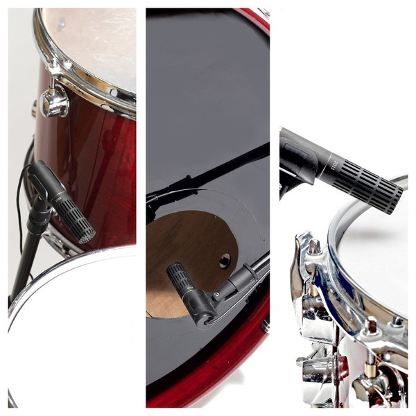 DPA d:dicate 2011 2011C Twin Diaphragm Condenser Mic, MMP-C, Triple Drum Recording Positions