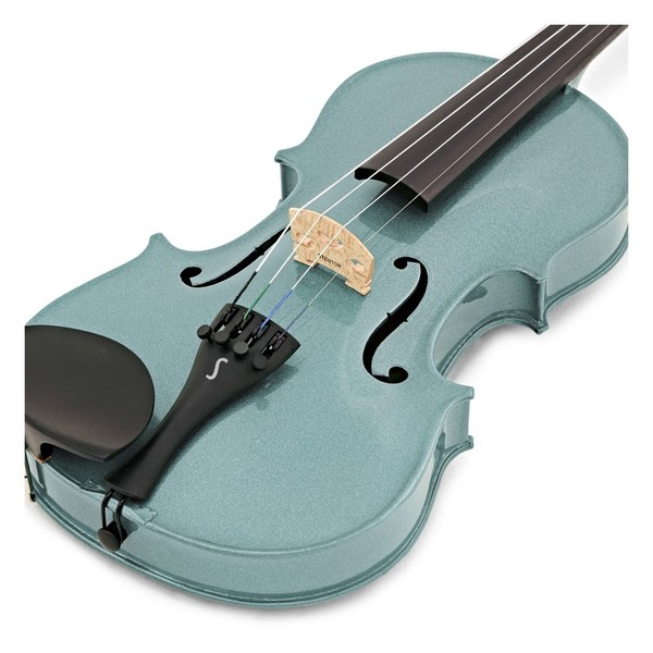 Stentor Harlequin Violin Outfit, Light Blue, 3/4, close