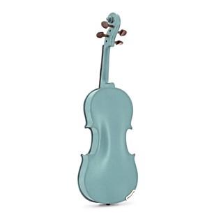 Stentor Harlequin Violin Outfit, Light Blue, 3/4, back