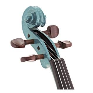 Stentor Harlequin Violin Outfit, Light Blue, 3/4, head