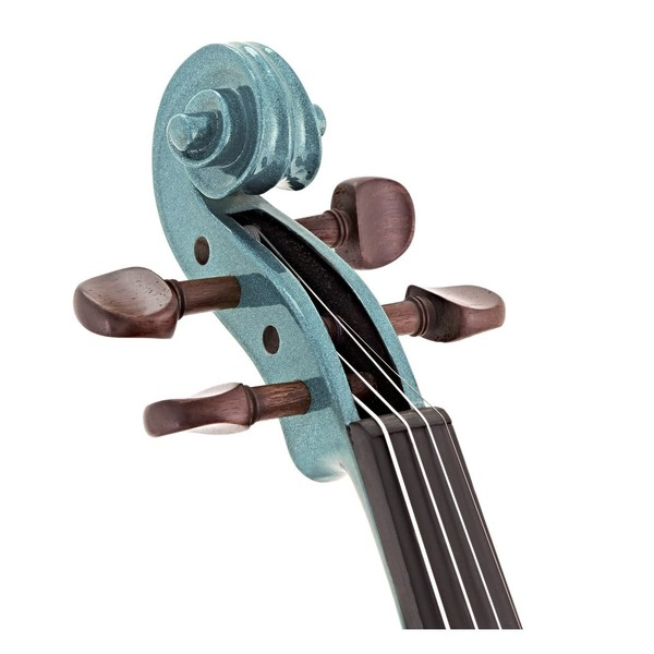 Stentor Harlequin Violin Outfit, Light Blue, 3/4, head