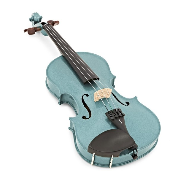 Stentor Harlequin Violin Outfit, Light Blue, 3/4, front