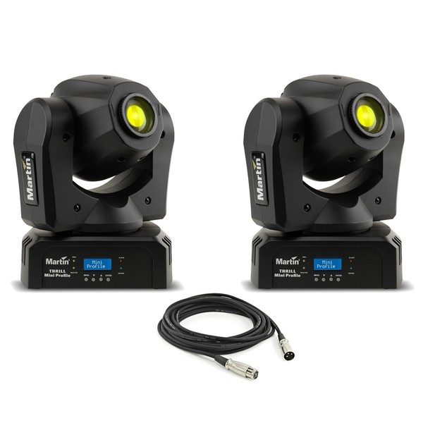 Martin THRILL Mini Profile Moving Heads - Pair with Cable - Main