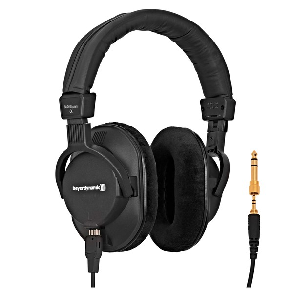 Beyerdynamic DT 250 Pro Headphones, 80 Ohm cables