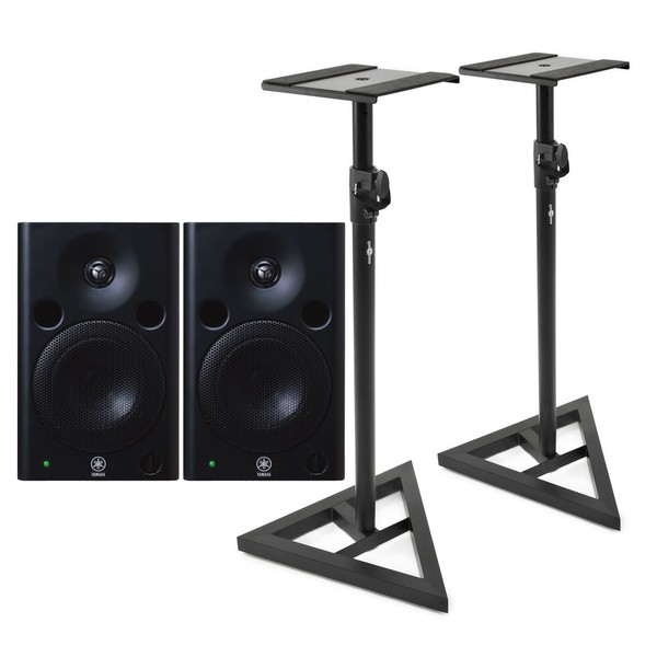 Yamaha MSP5 Studio Active Monitor (Pair), with Stands - Full Bundle