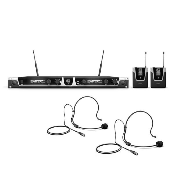LD Systems U518  Double Headset Mic Wireless System, Black