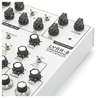 SOMA laboratory Lyra-8 Analog Synthesizer, White Angel close
