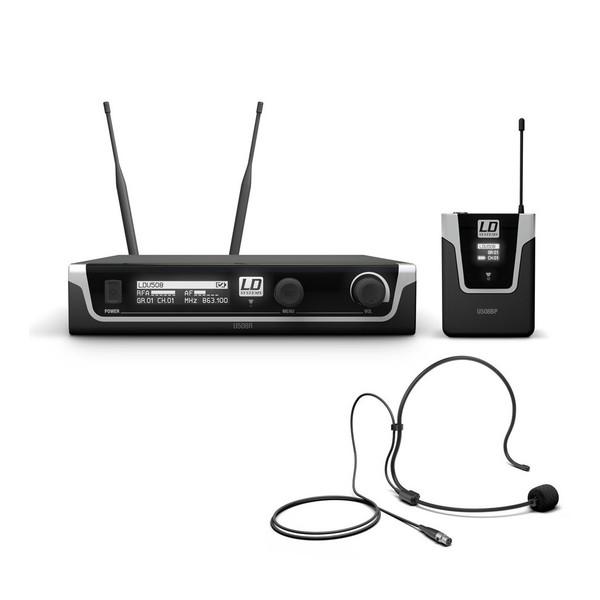 LD Systems BPH Single Headset Mic Wireless System, Black