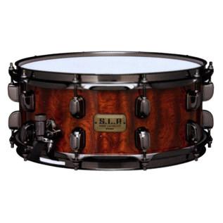 Tama SLP 14'' x 6'' G-Bubinga Snare Drum, Natural Quilted Bubinga