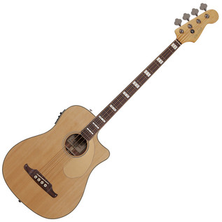 Fender Kingman Bass SCE Cutaway Electro Acoustic Bass Guitar, Natural