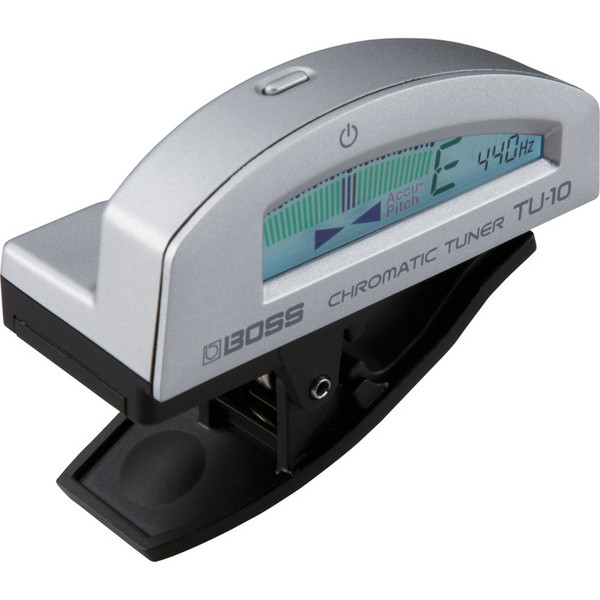 Boss TU-10 Clip-On Tuner, Silver