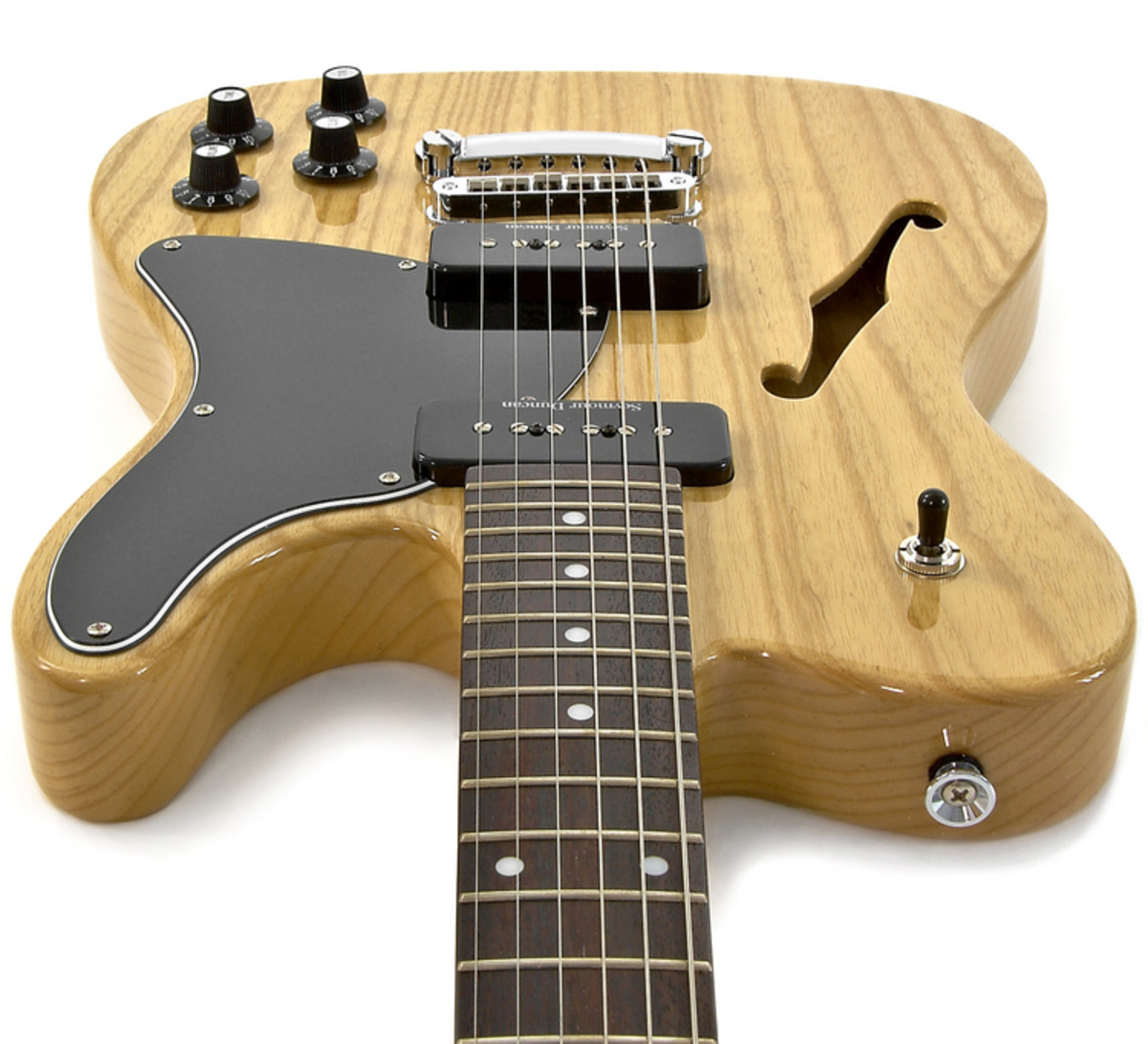 fender jim adkins ja 90 thinline telecaster natural nearly new at gear4music. Black Bedroom Furniture Sets. Home Design Ideas