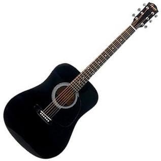 Squier by Fender SA-105 Acoustic Guitar, Black