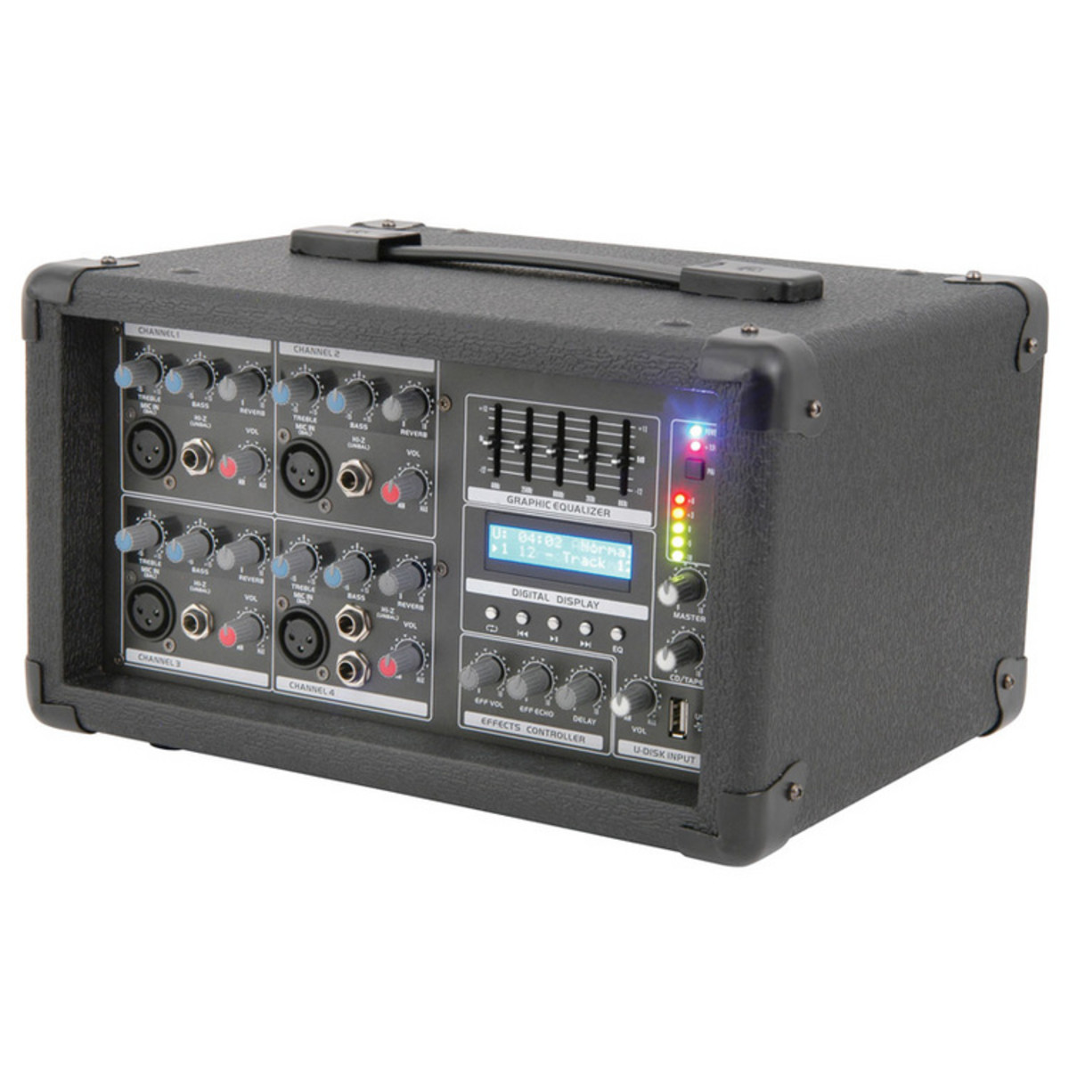 disc qtx 100w pa system with mixer speakers at gear4music. Black Bedroom Furniture Sets. Home Design Ideas