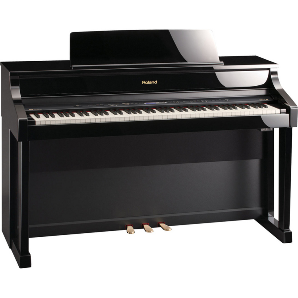 disc roland hp507 digital piano polished ebony na. Black Bedroom Furniture Sets. Home Design Ideas