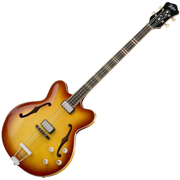Hofner HCT 5007 Verythin Short Scale Bass, Sunburst