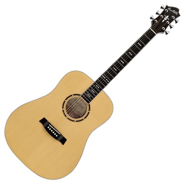 Hagstrom Siljan Dreadnought Acoustic Guitar, Natural