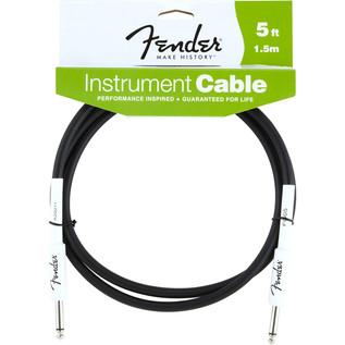 Fender 1.5m Instrument Cable, Black