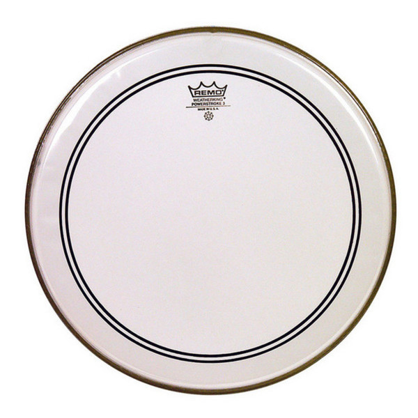 Remo Powerstroke 3 Clear Bass Drum Head with Falam 24""