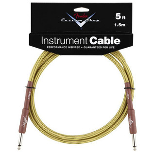 Fender Custom Shop 1.5m Instrument Cable, Tweed