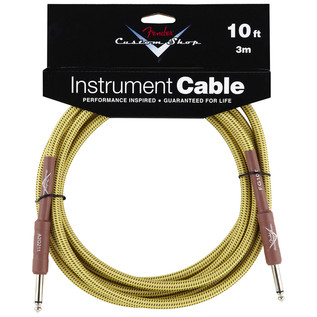 Fender Custom Shop 3m Instrument Cable, Tweed