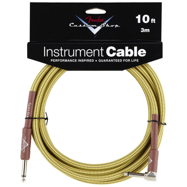 Fender Custom Shop 3m Angled Instrument Cable, Tweed