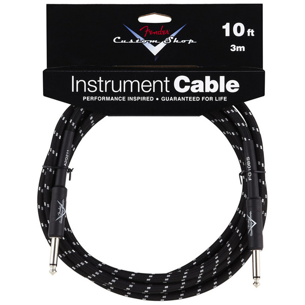 Fender Custom Shop 3m Instrument Cable, Black Tweed