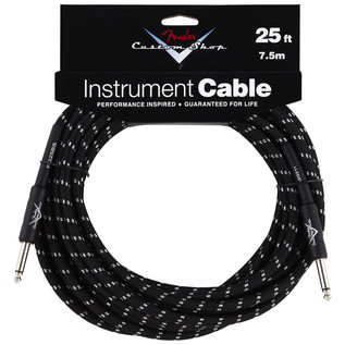 Fender Custom Shop 7.5m Instrument Cable, Black Tweed