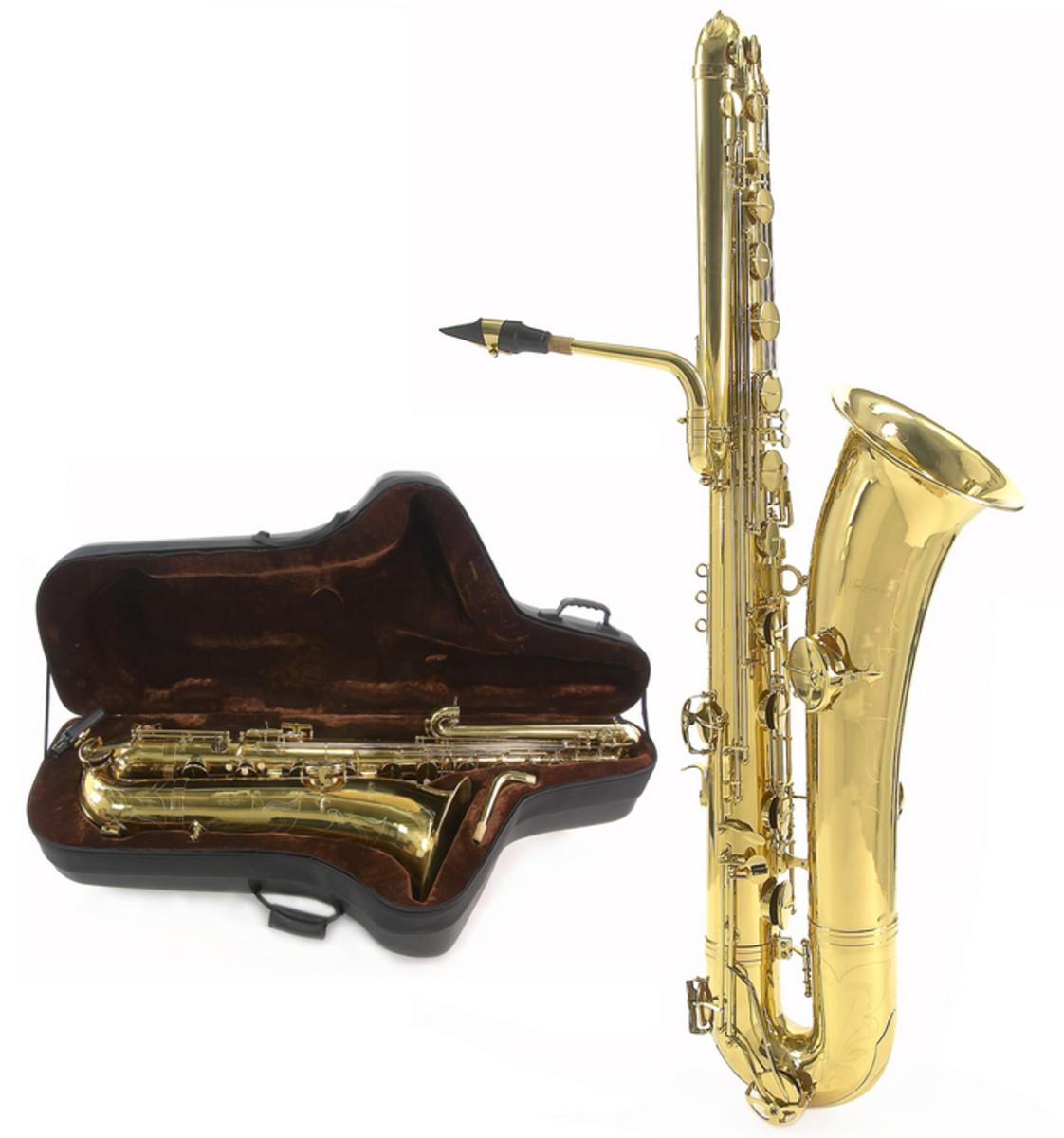 saxophone basse par gear4music or d 39 occasion. Black Bedroom Furniture Sets. Home Design Ideas
