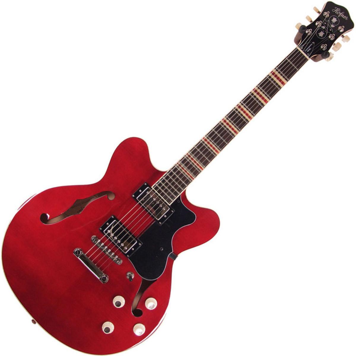 hofner hct verythin guitare lectrique rouge. Black Bedroom Furniture Sets. Home Design Ideas
