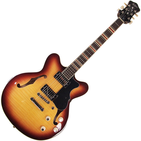 Hofner HCT Verythin Electric Guitar, Sunburst